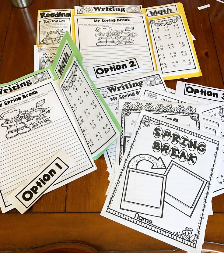 Don't want your kids to lose momentum during Spring Break? The Spring Break Project keeps first and second graders practicing essential skills like reading, asking questions, responding to text, writing, and math addition and subtraction while having fun!   The Spring Break Project contains three options . This packet can be done as a Lap Book for a fun scrapbooking vibe, as a foldable with a piece of construction paper, or as a stand-alone print and go packet. You choose!