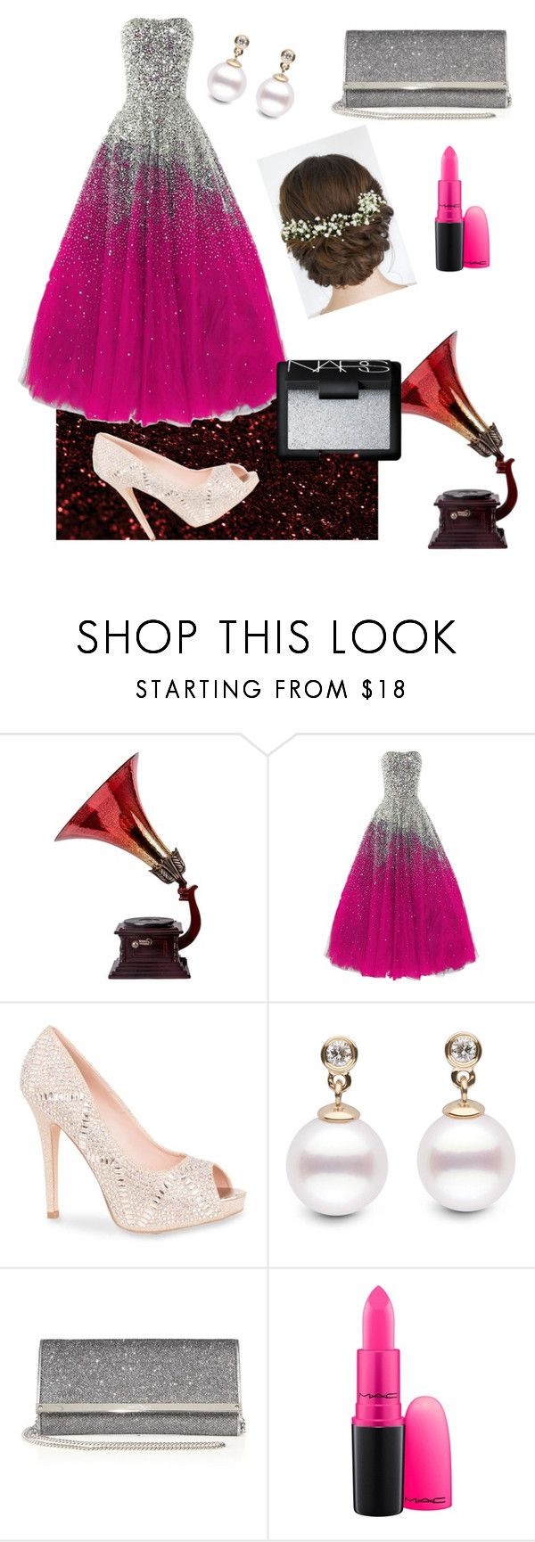 Prom Night by feliciamia on Polyvore featuring Lauren Lorraine, Jimmy Choo, NARS Cosmetics and MAC Cosmetics