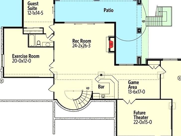 Single Story 5 Bedroom Tuscan Home With Finished Walkout Basement Floor Plan In 2020 Floor Plans Tuscan House Basement Floor Plans