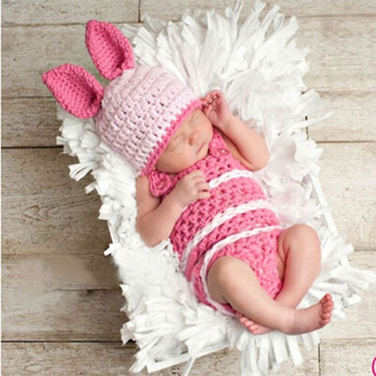 Animal Rabbit Pattern Baby Photography Costume For About 0-4 Months Old Knitting Cute Props $15.50 #Lovejoynet