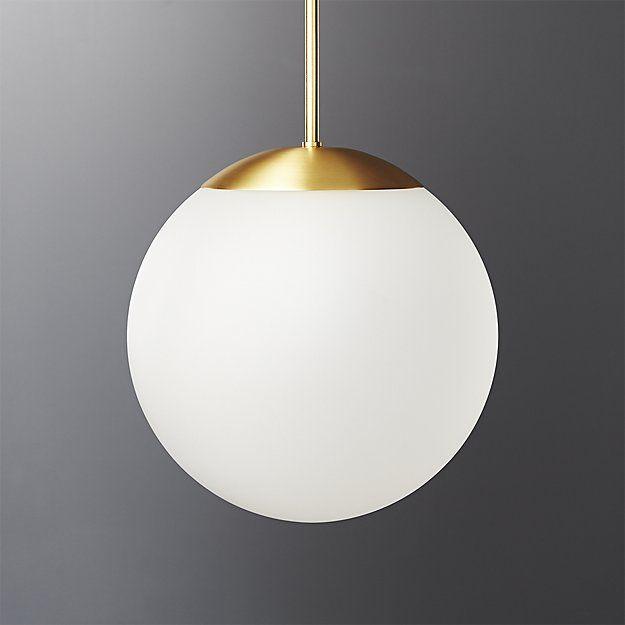 Vega Indoor-Outdoor Brass Pendant Light | CB2