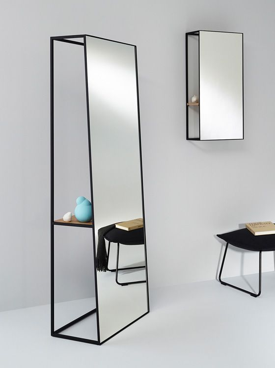 Unique Voluminous Chassis Mirrors With Shelves | DigsDigs