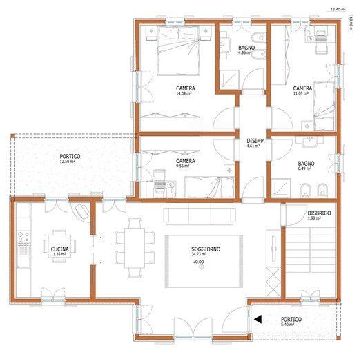 Oltre 25 fantastiche idee su planimetrie di case su for Piani di casa con camino a doppia faccia