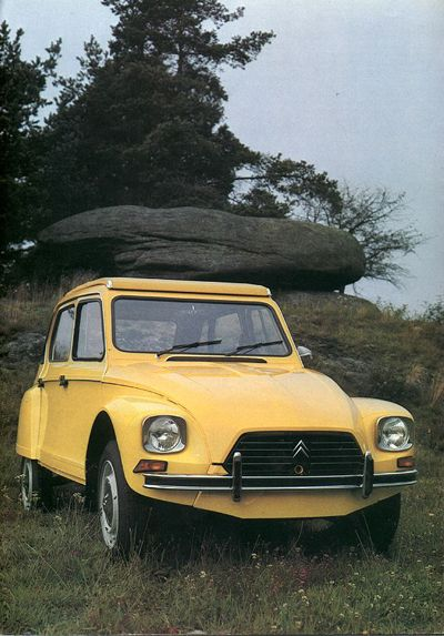 1980 Citroen Dyane 6 - my first car, but mine was very rusty