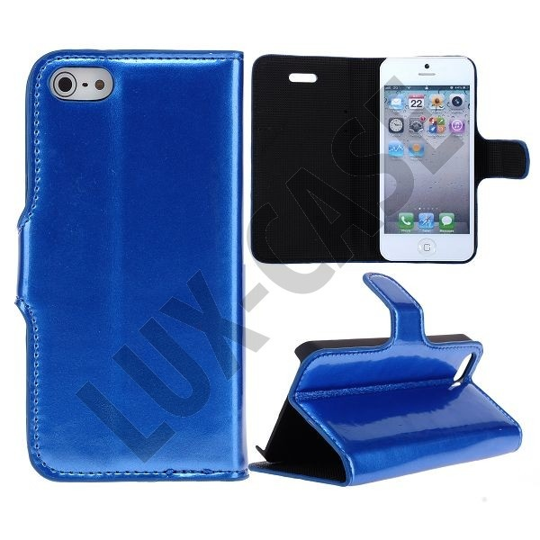 Shiny leather!  http://lux-case.dk/shiny-lack-iphone-5-leather-cover-bla.html