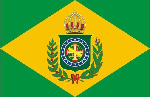 Linha do trono imperial do Brasil - Bandeira Imperial