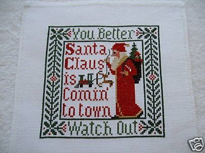 Completed Prairie Schooler Christmas Cross Stitch - SONGS of the SEASON - Christmas December Special - Free Shipping in US on Etsy, $39.95