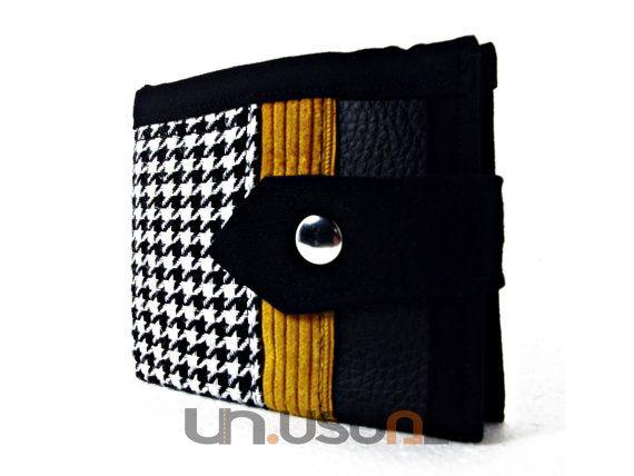 Vegan Wallet Cool Wallet Bifold Wallet Smart by theUNUSUALconcept