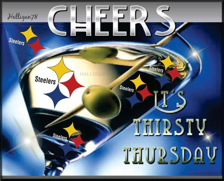 steelergalfan4life 🖤💛 - Happy Thirsty Thursday 💙💙💙 - By P Halligan