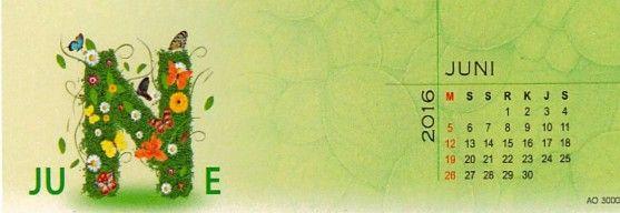 Kalender 2016 Love Nature - Juni