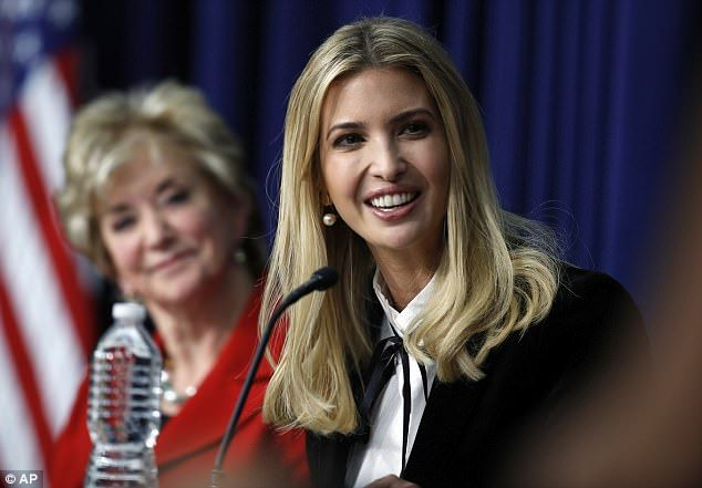 Company: Ivanka was joined by Small Business Administration administrator Linda McMahon (left) on the panel