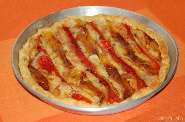 torta salata peperoni mozzarella