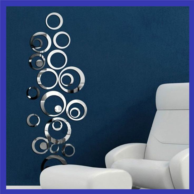 DIY Acrylic Home decor 48Pcs Circles Wall Stickers mirror sticker style removable wall  Decal  home decoration wallpaper sticker