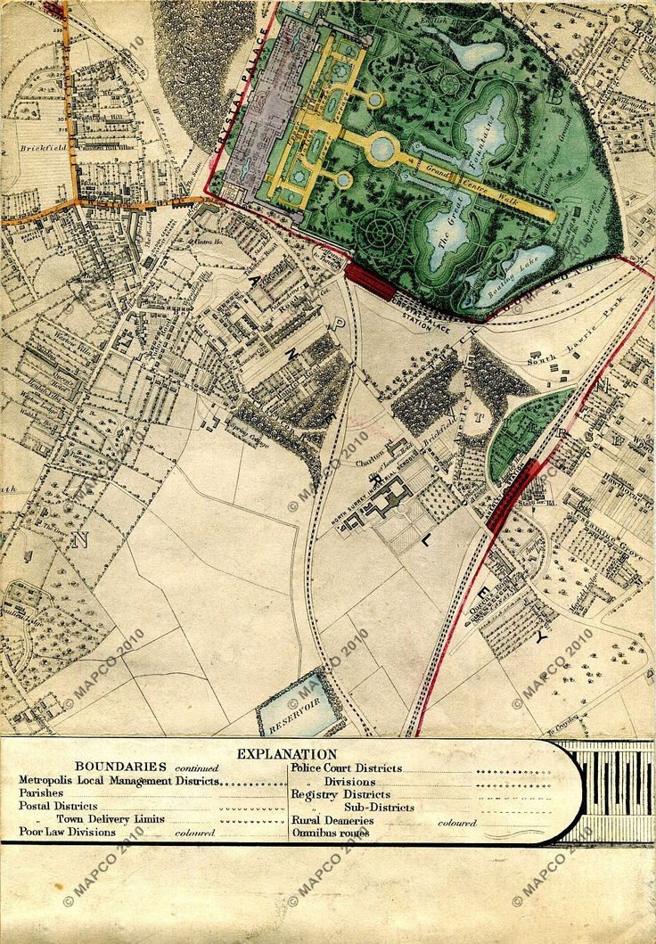 Joseph Paxton, Crystal Palace, London, England, 1851 Map Of Crystal Palace