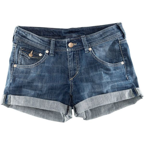 H&M Denim shorts ($19) ❤ liked on Polyvore featuring shorts, bottoms, pants, short, denim short shorts, low rise jean shorts, denim shorts, short shorts and short jean shorts
