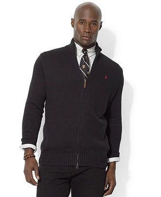 Polo Ralph Lauren Big and Tall Sweater, Mockneck Cardigan - Mens Big & Tall Sweaters - Macy's