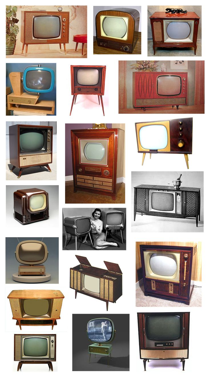 Before TV's were wall art, they were once considered home decor. Love these mid-century television sets...especially the red one.