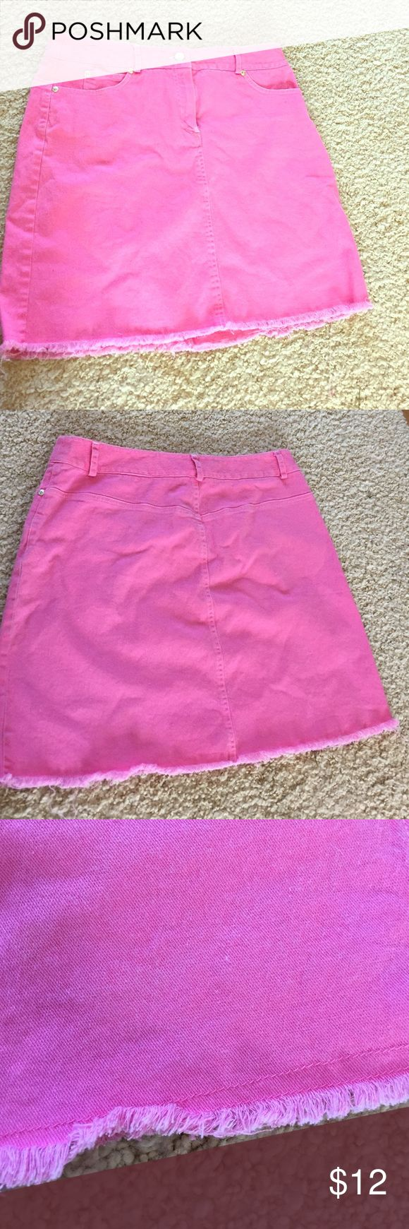 Hot Pink Denim Pencil Skirt Hot pink denim pencil skirt. I got this at a boutique that sells designer clothes for low prices and the tag has been cut out. It goes well with Lilly Pulitzer. Perfect for a cruise or summer party! Skirts Pencil