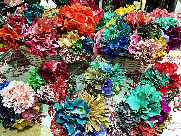 Ramilletes de flores para flamenca