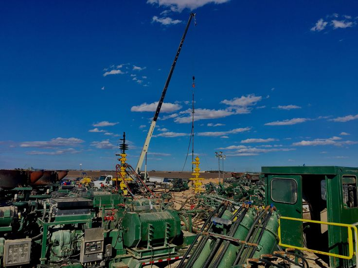 Frac Job in the west Texas oilfield