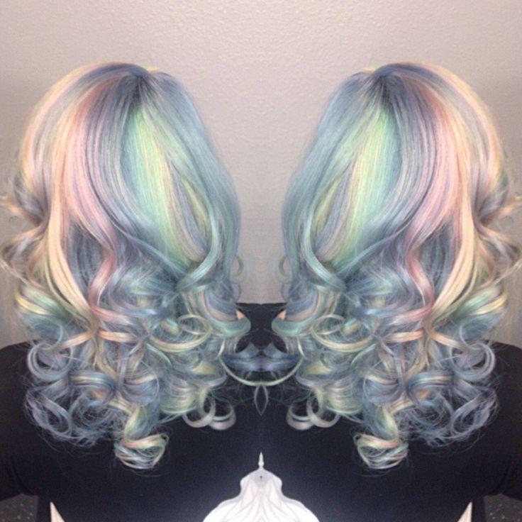 Opal hair using pravana vivids! Pastel beauty