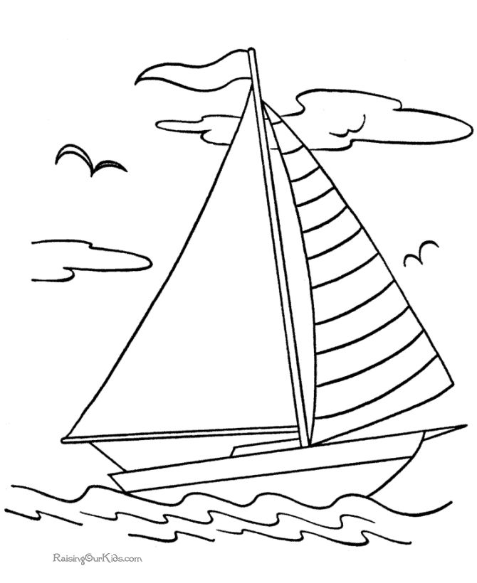 google coloring book pages boats - photo#1