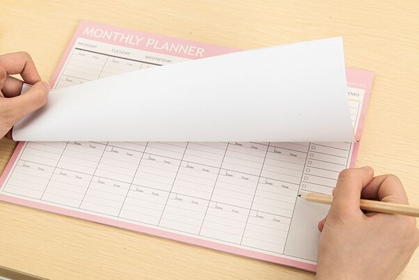 Monthly Organiser Planner Desk Table Business Schedule To Do List For College And Office 21cm X 28.5cm