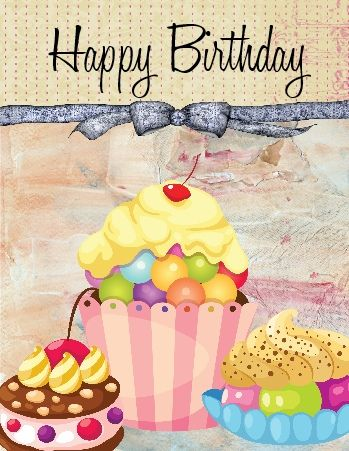 Garnish your #birthday wishes for a #friend with a #cupcake greeting…