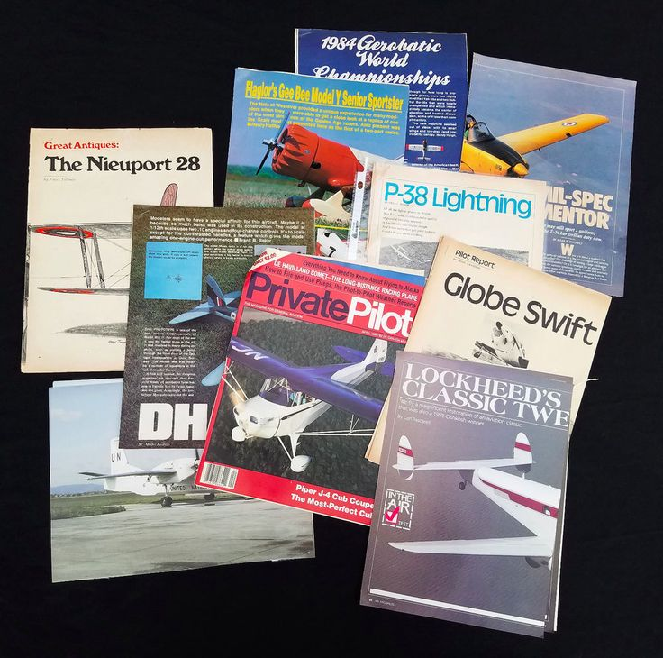 200+ Lot Vintage 60s 70s 80s Model Airplane Magazine Articles Flight Aviation