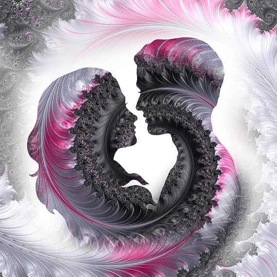 Pink black couple print pink love art pink by theartofthematrix