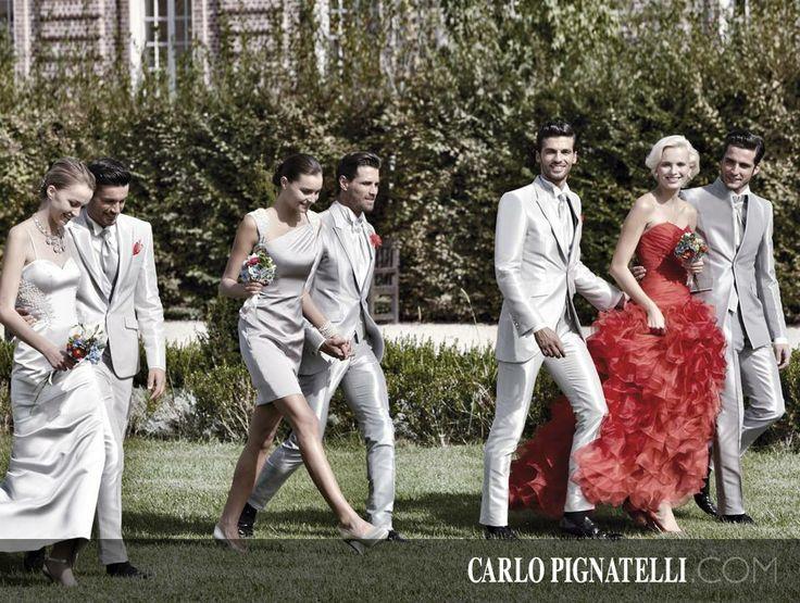Deze foto is van Carlo Pignatelli. Een prachtige kleurencombinatie van grijs met rood. Kijk voor de bruidskinderen naar de foto's van dit bord. Trouwen, bruiloft, huwelijk, bruidspaar, trouwen in kleur, bruidskinderen, bruidsmeisje, bruidsjonker. bruidskindermode.nl