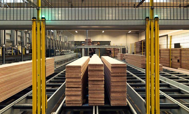 Douglas planks on their way through production