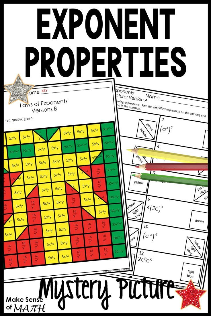Laws Of Exponents Worksheets Activities Maths Activities Middle School Math Activities Middle School Math