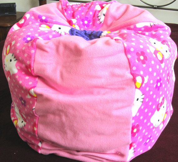 Hello Kitty Pink Fleece Bean Bag Chair By Bluemonkeystyle On Etsy 6999