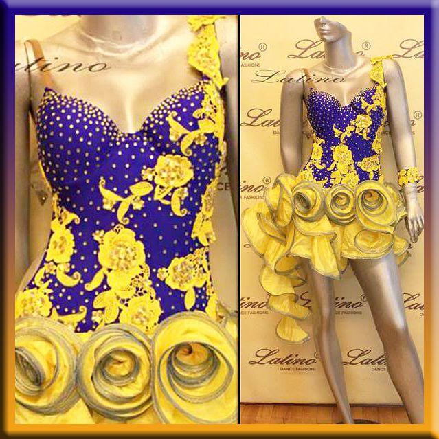 Латинская ритм, сальсы бальные конкуренции платье для танцев размер S, M, L (LT461F)