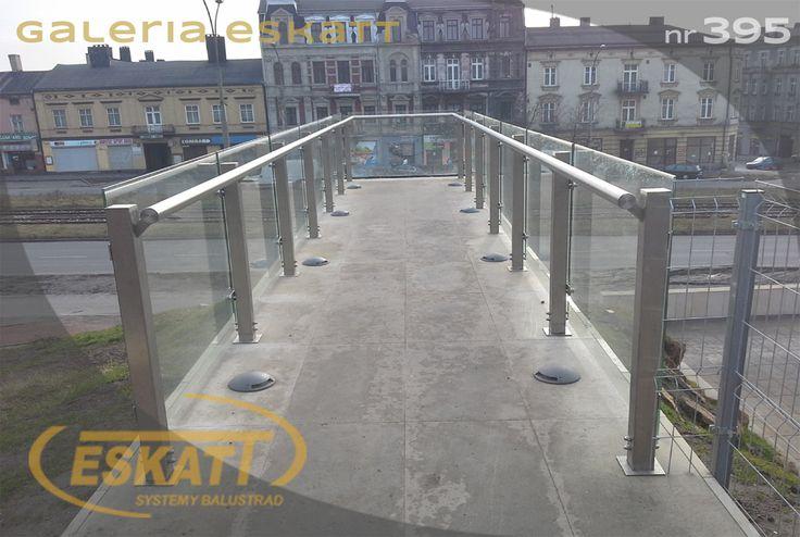 Glass balustrade with stainless steel handrails #balustrade #eskatt #construction