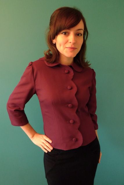 The Betty Draper jacket! Simplicity 7032 from 1967 makes an awesome Mad Men piece :D