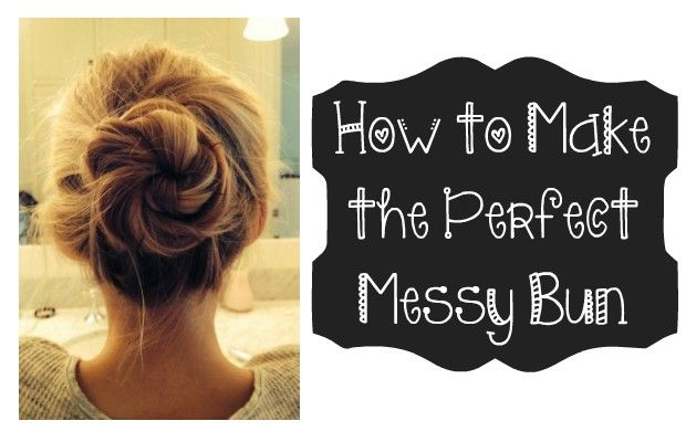 how to make the perfect bun for short hair