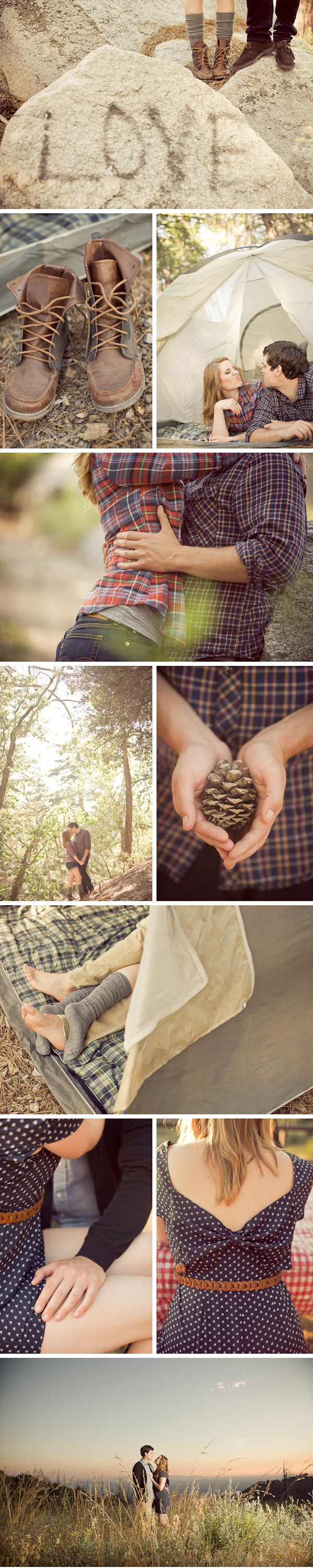 "<3 <3 LOVE this photo collage...I need a photo collage of Tracy and I with ""backpacking/camping"" love...(LOVE the feet in sleeping bags) <3"