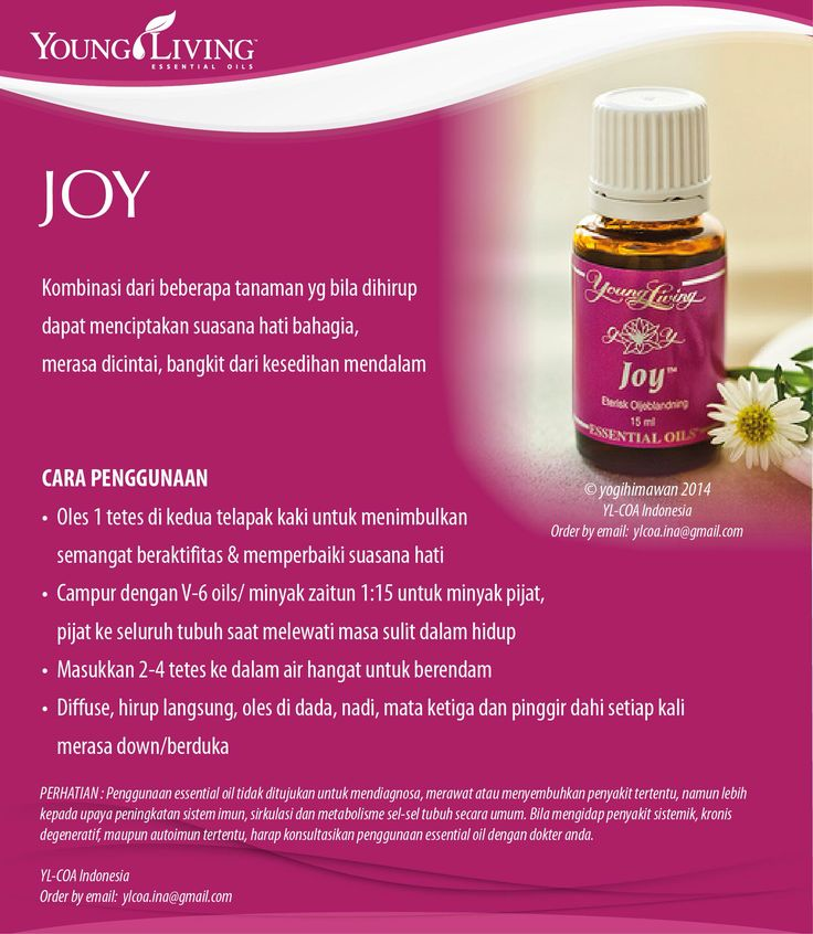 JOY essential oil www.mamaesensial.com #younglivingindonesia