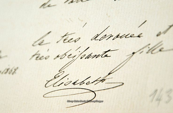 Signature of the Empress Sissi.