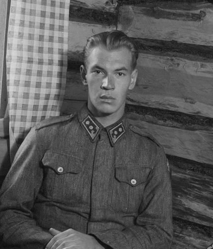 Knight of the Mannerheim Cross, Lieutenant Kullervo Leskinen. Uhtua,12.8.43.