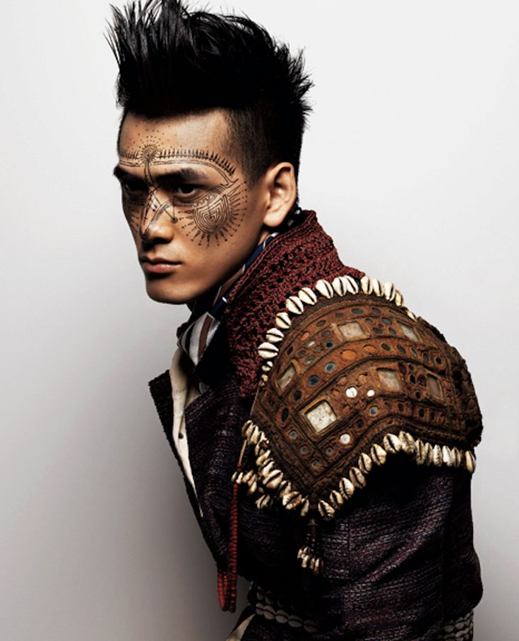 Tribal shells and leather Reminds me of the list boy from petter pan.