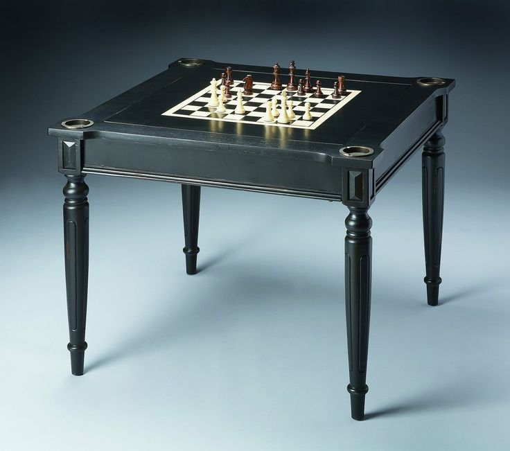Vincent Black Licorice Multi-Game Card Table by Butler Specialty Compa – The Rustic Furniture Store