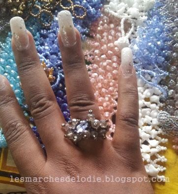 Au Marché des artisans... Du pagne et des perles. - Les Marches d'Elodie