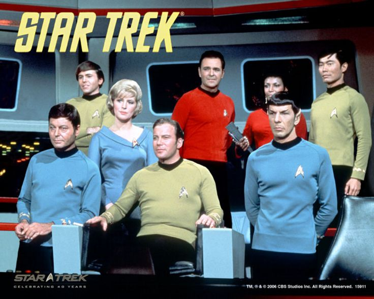 Star Trek, first aired in 1966, created by Gene Roddenberry. Starring William Shatner and Leonard Nimoy. #science_fiction #television