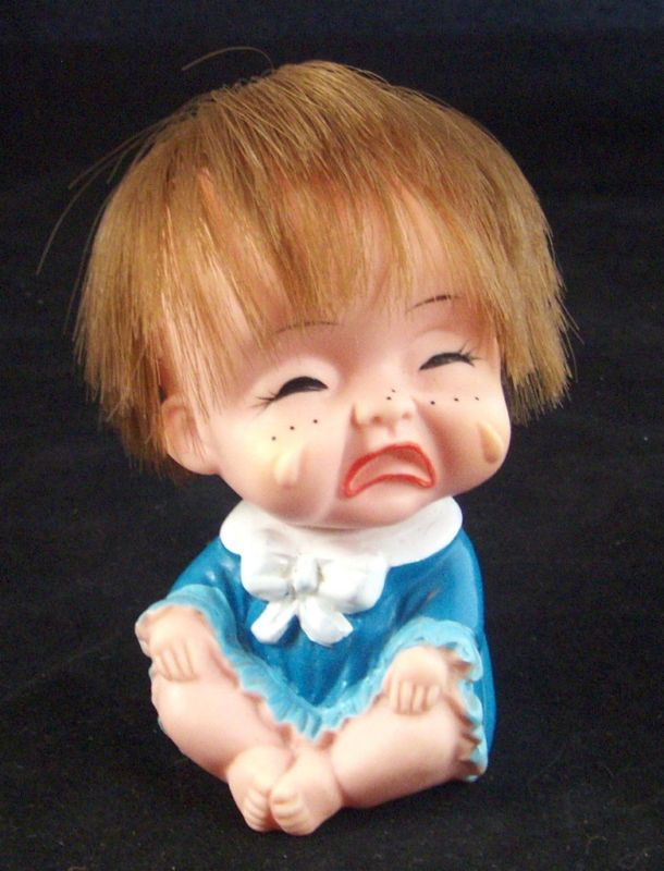 Vintage Ugly Crying Sitting Rubber Baby Doll JAPAN ...