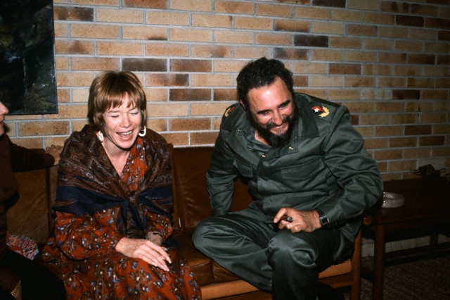 Shirley MacLaine and Fidel Castro