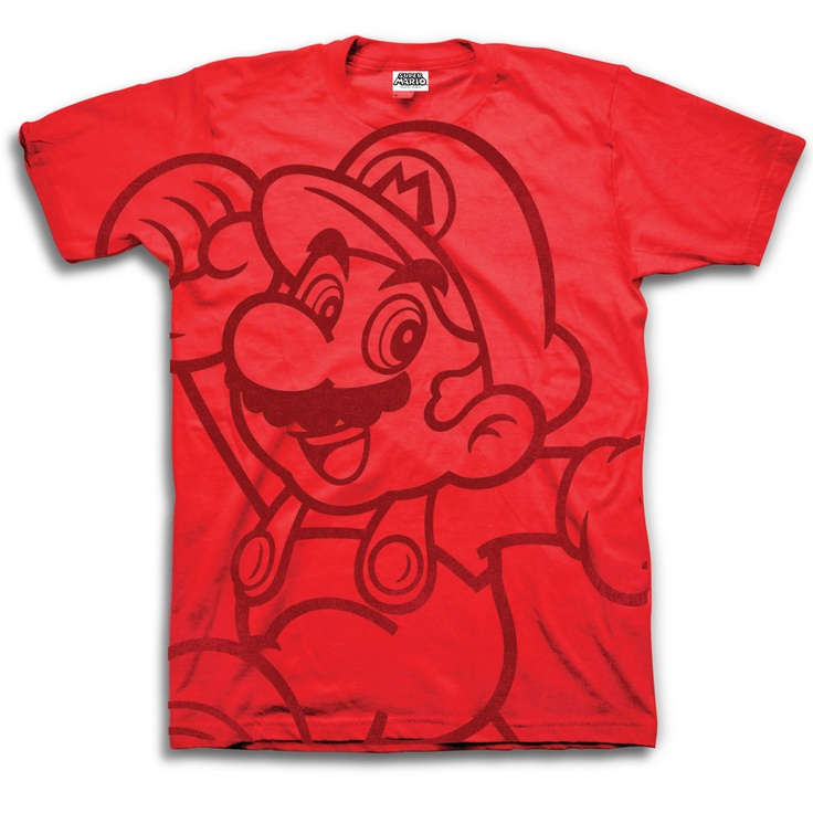 Freeze: Nintendo Mario T-Shirt Red, at off!