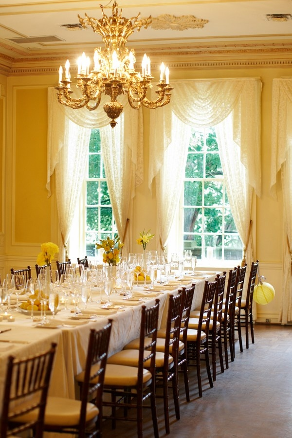 www.valencienne.com sparkles over elegant chandeliers at The Graydon Hall Manor. This luxurious venue has all the romantic details! #bridalcouture #bridaldesign #designerfabric #runwayexperience